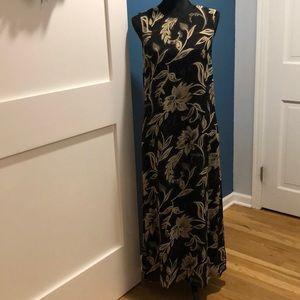 Talbots full length sleeveless dress